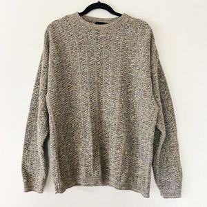 Vintage Bill Blass Oversize Boyfriend Knit Sweater